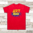 Art Attack Logo Retro 90's Kids TV Neil Buchanon Mens Red T-Shirt Size Large