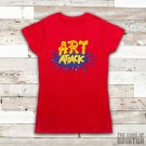 Art Attack Logo Retro 90's Kids TV Neil Buchanon Women's Red T-Shirt Size Large