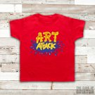 Art Attack Logo Retro 90's Kids TV Neil Buchanon Kids Red Unisex T-Shirt All Sizes