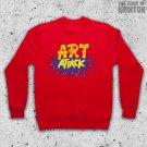 Art Attack Logo Retro 90's Kids TV Neil Buchanon Adults Red Unisex Sweater Jumper