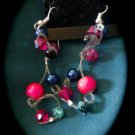 Neon Pink Knotted Earrings