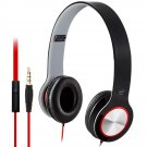 E-books S13 Foldable Headphones with In-Line Controller Black Computer Laptop