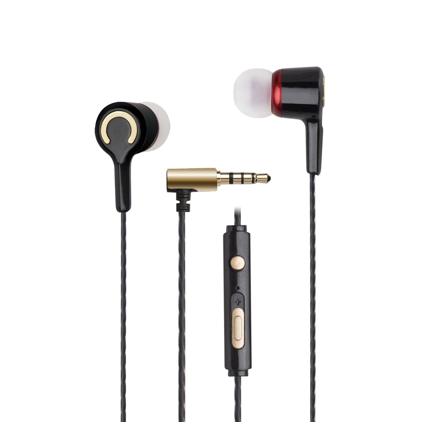 E-books S72 In-Ear Headphone with Volume Control for Computer Tablet Sport Black