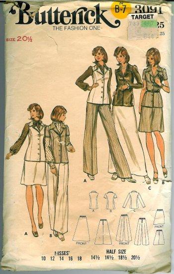 Vintage '70's Butterick Pattern No. 3091