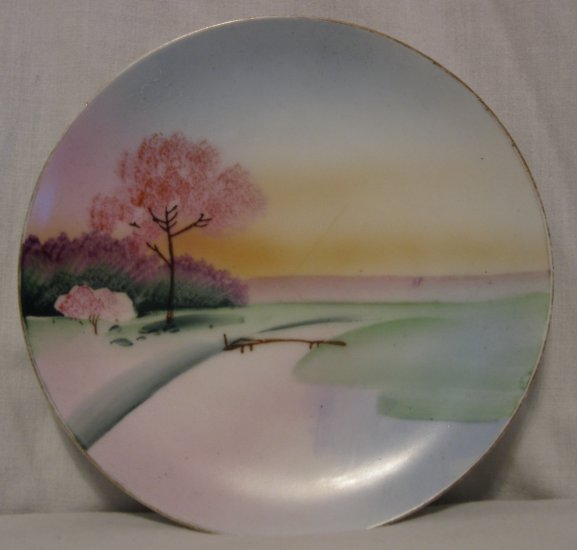 Meito China Hand Painted Japan Plate