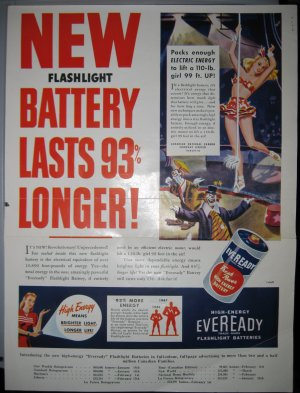 Old Eveready Battery Advertisement - Canada