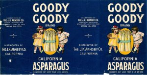 3 Goody Goody brand can labels