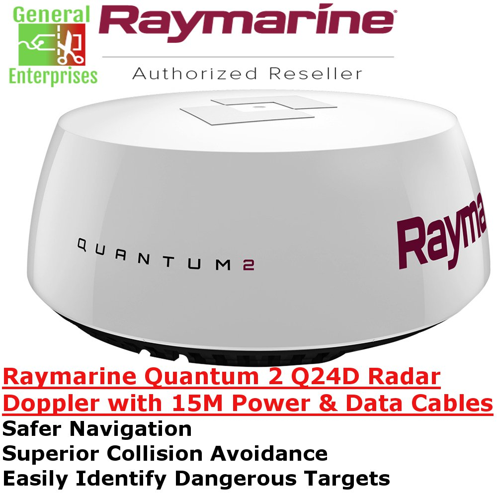 Raymarine | Q24D | Doppler Radar | CHIRP | Weather Radar | Doppler Weather Radar