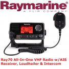 Raymarine Ray70 All-In-One VHF Radio | AIS Receiver Loudhailer | Intercom