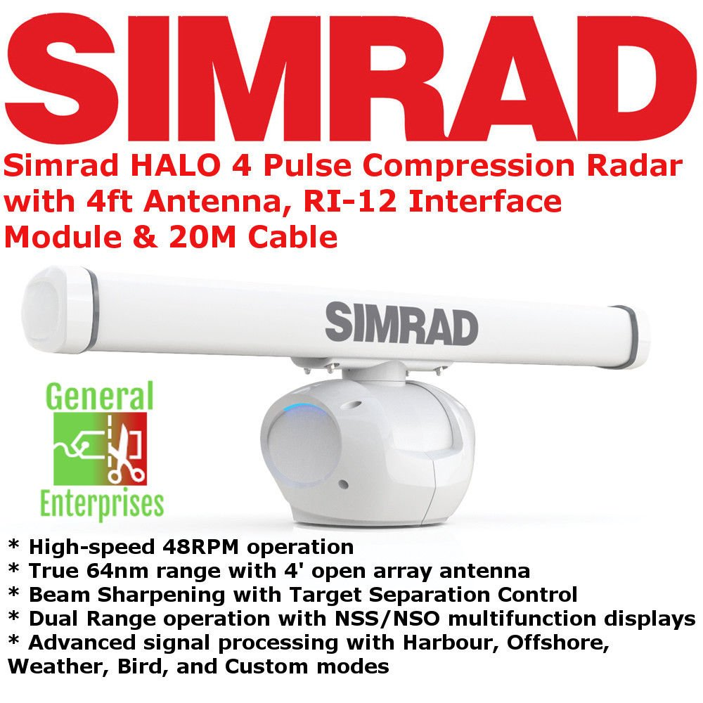 SIMRAD Halo 4 | Weather Radar | Boat GPS | MARPA | Storm Radar | Navigation