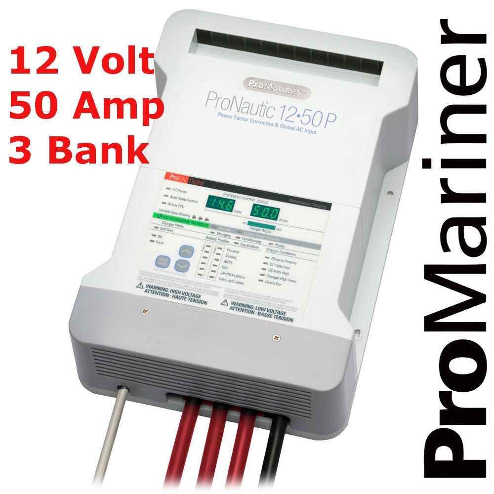 ProMariner Battery Charger | ProNautic 1250P | 12v Battery Charger | 12v 50 Amp