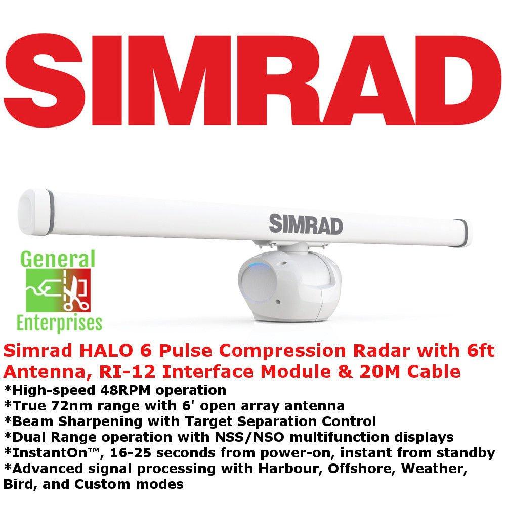 Simrad Halo 6   Weather Radar   ARPA   Marine   Navigation   Marine Radar