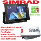 Simrad NSS12 EVO3 | Weather Radar Bundle | Fish Finder | Chart Plotter | GPS
