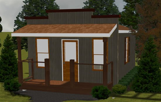 Saloon Style Shed | 14 x 20 | Covered Porch | DIY Building Plans | Custom Shed