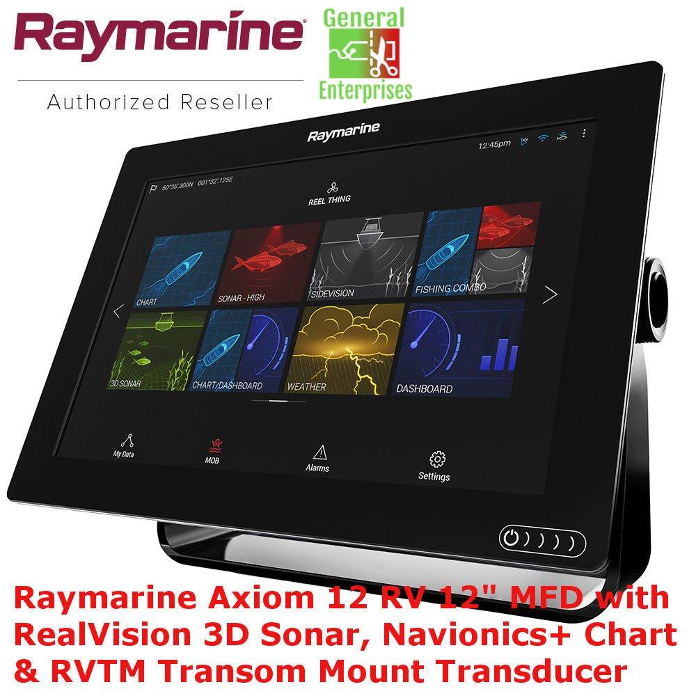 Raymarine Axiom 12 RV | Sonar 3D | Navionics | GPS | Chart Plotter | Fish Finder