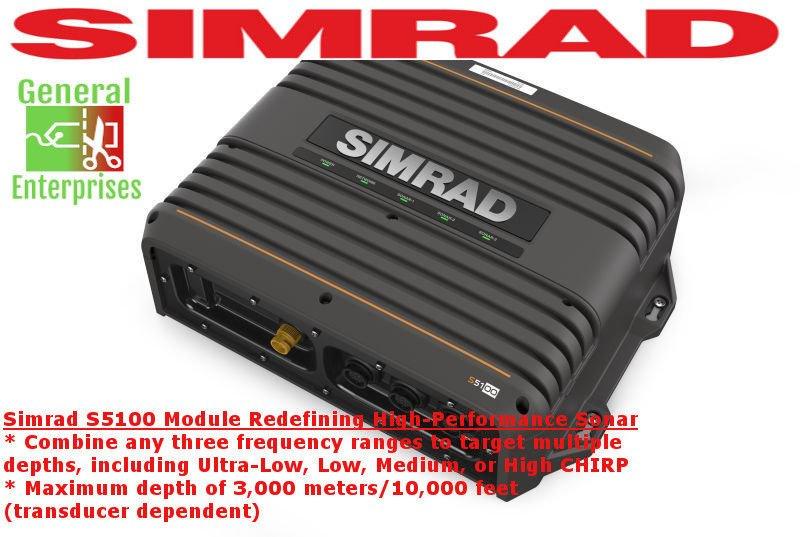 SIMRAD S5100   Sonar   CHIRP   Fishing Sonar   Depth Finder   Fish Finder