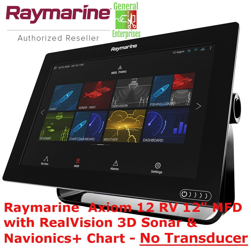 Raymarine Axiom 12 RV | Navionics | Chart Plotter | GPS Navigation | Fish Finder