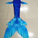 Silicone Mermaid Tails Inspired Mermaid Tails for Swimming for Kids with Monofin by Fabric Blue
