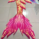 Yellow Red Swimmable Mermaid Tails with Monofin Adult Beach Performance Costume Unique Gift Idea