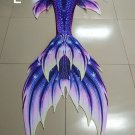 KIDS Purple Swimmable Mermaid Tails with Monofin Girls Mermaid Costumes Unique Birthday Gift
