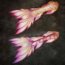 Pink Lady Mermaid Tails for Swimming for Women Fabric with Monofin. Best Anniversary Gift Idea