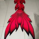 Hot Red Swimmable Mermaid Tails for Adult Mermaid Party Performance Dress