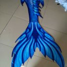 Dolphin Blue Mermaid Tails for Swimming with Monofin for Kids Teens Birthday Gift