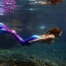 Royal Blue Swimmable Mermaid Tails Underwater for Kids Teen Girls with Monofin