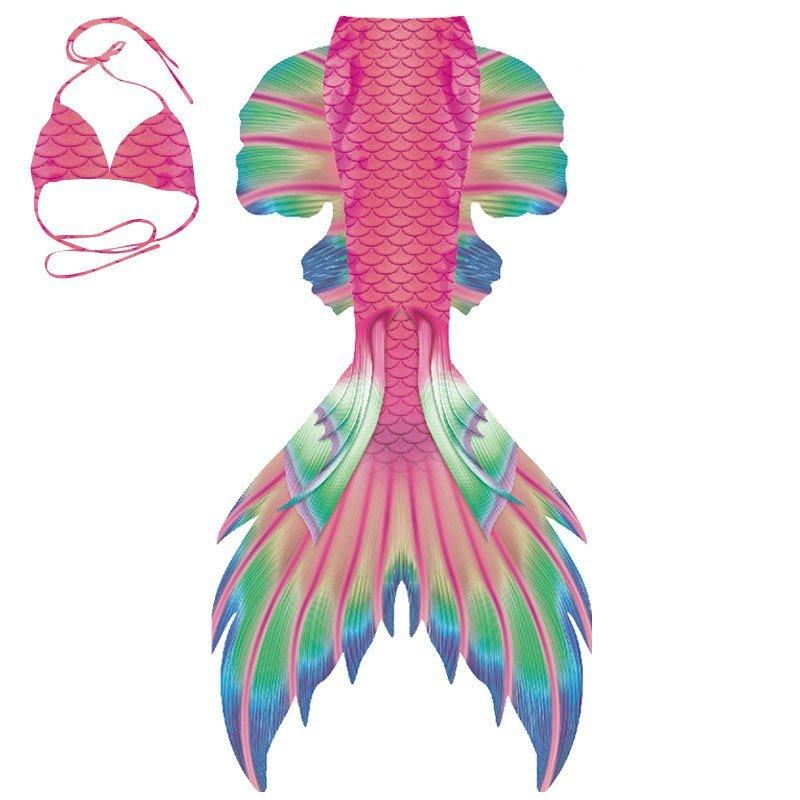 2019 Rainbow Mermaid Tails for Swimming with Monofin Women's Swimwear