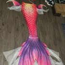 2020 Fairy Rose Swimmable Mermaid Tail for Adult with Monofin