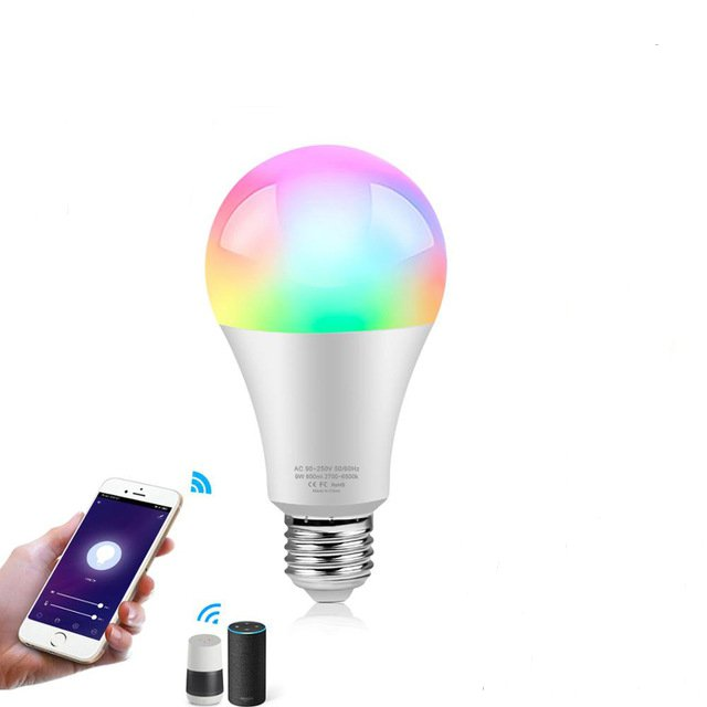 Best Smart Light Bulbs Wifi Voice Control LED Lamp for Alexa