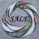 SALE!! SALE!!! Multicolor crochet necklace Many-colored Summer mood for everyone Crochet Bead Rope