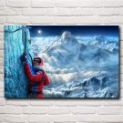 Extreme Sports Snow Mountain Rock Climbing Art Silk Poster Home Wall Decor Pictures 22x35 Inch