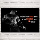 Bodybuilder Sport Muscles Motivational Quotes Art Silk Poster Gym Image Decor Picture 22x35 Inch