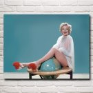 Sexy Lady Marilyn Monroe Art Silk Fabric Poster Prints Home Wall Decor Pictures 24X32 Inches