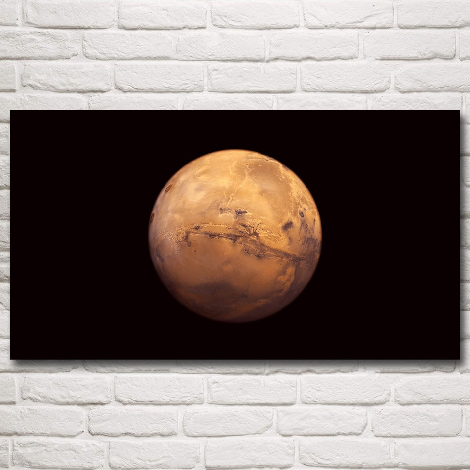 Mars Planet Space Universe Art Silk Poster Prints Home Wall Decor Pictures 20x36 Inches