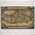 World Map National Geographic Retro Art Silk Fabric Poster Prints 24x36 Inch