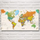 World Map European American Modern Art Silk Poster Prints 20x36 Inches