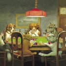 Funny Dogs Playing Poker Cards posters and prints home decor Fabric Poster Print 24x36 Inches