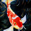 Colourful Koi Fancy Carp Fish Animal Fabric Silk Posters And Prints Home Decor Wall Art 24x36 Inches