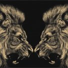 King Lion Animal Fabric Silk Posters And Prints Home Decor Wall Art 24x36 Inch