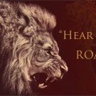 """Hear Me Roar"" Lion Animal Fabric Silk Posters And Prints Home Decor Wall Art 24x36 Inch"