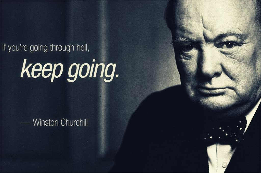 Keep Going-Winston Churchill Motivational Fabric Silk Posters And Prints Home Decor Art 24x36Inch