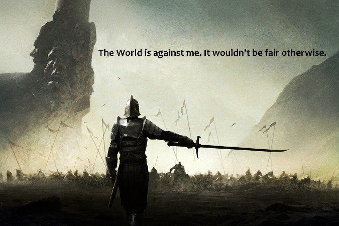 The World Is Against Me Motivational Fabric Silk Posters And Prints Home Decor Art 24x36 Inch