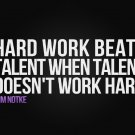 Tim Notke - Hard Work Quotes Motivational Fabric Silk Posters And Prints Home Decor Art 24x36 Inch