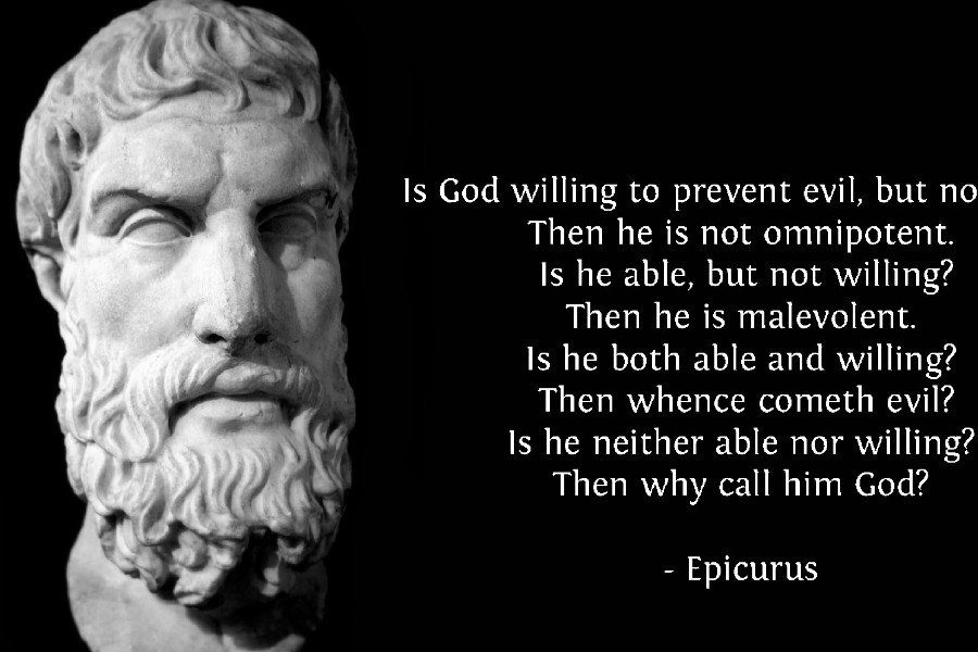 Epicurus Quotes Inspirational Motivational Fabric Silk Posters And Prints Home Art 24x36 Inch