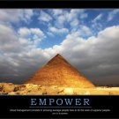 EMPOWER- D. Rockefeller Motivational Fabric Silk Posters And Prints Home Art 24x36 Inch