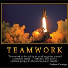 TEAMWORK- Andrew Carnegie Motivational Fabric Silk Posters And Prints Home Art 24x36 Inch