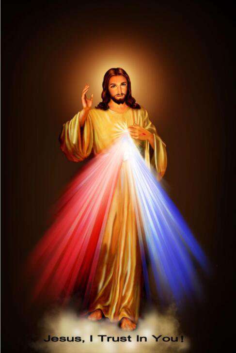 Jesus I Trust In You Motivational Fabric Silk Posters And Prints Home Art 24x36 Inch