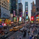 Times Square New York City Fabric Silk Posters And Prints Home Wall Art 24x36 Inch